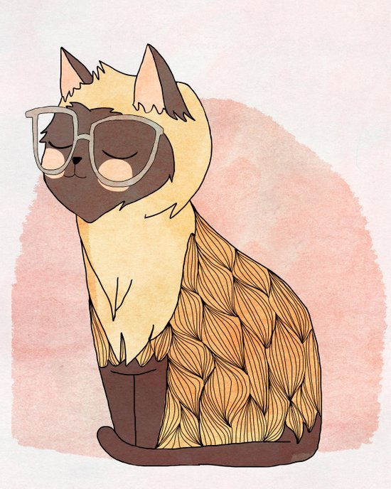 Hip Cat Canvas Print