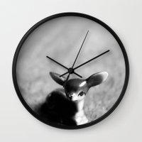 Quiet Fawn Wall Clock