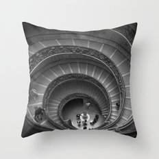 The Spiralling Staircase. Throw Pillow