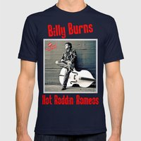 Rockin' Billy Burns Mens Fitted Tee Navy SMALL
