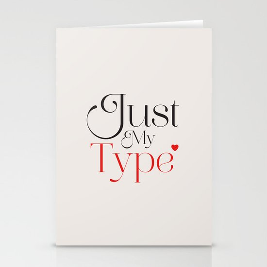 Just My Type Stationery Card