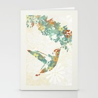 Colorful Teal Hummingbir… Stationery Cards