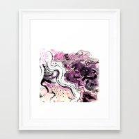 Crazy Pink Framed Art Print