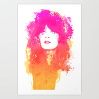 Zooey Deschanel Art Print