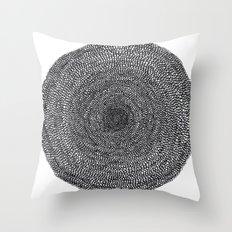 Darker Circle Throw Pillow