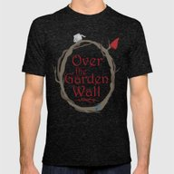 Over The Garden Wall Mens Fitted Tee Tri-Black SMALL
