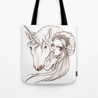 Her first Unicorn Tote Bag