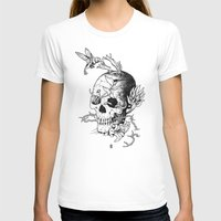 Skull one B Womens Fitted Tee White SMALL
