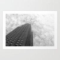 From the Bottom Up (Black & White) Art Print