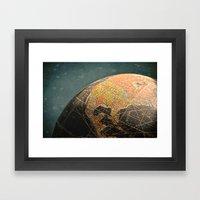 Where I Am (Vintage Glob… Framed Art Print