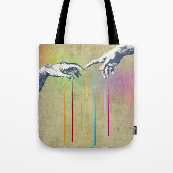 But deliver us from evil Tote Bag