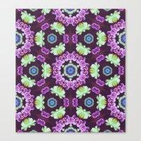 Kaleidoscope - Floral Fa… Canvas Print