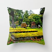Scenic Cemetery Throw Pillow