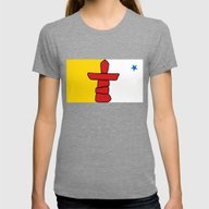 Nunavut  Province Flag -… Womens Fitted Tee Tri-Grey SMALL