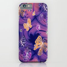 Flutterby Butterfly in purple and orange! iPhone 6s Slim Case
