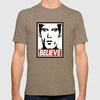 BELIEVE (Obey Giant X Twin Peaks) Mens Fitted Tee Tri-Coffee SMALL