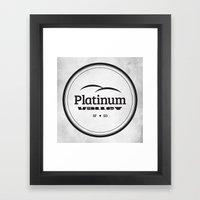 Platinum Valley Framed Art Print