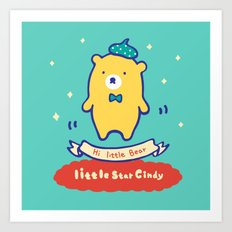 Little baby bear Art Print