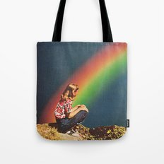 NIGHT RAINBOW Tote Bag
