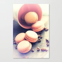 Sweet Petits with coffee beans  Canvas Print