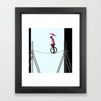 try to keep the balance Framed Art Print