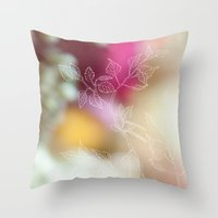 Colorful Branch Throw Pillow