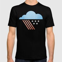 Patriotic Weather. Mens Fitted Tee Black SMALL
