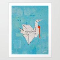 Paper Bird Art Print