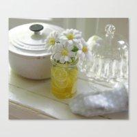 Miniature Daisy Love Canvas Print