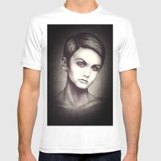 Twiggy SMALL White Mens Fitted Tee