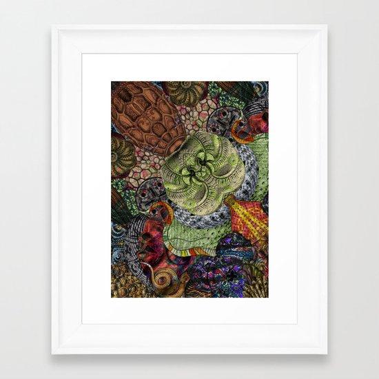 Psychedelic Botanical 10 Framed Art Print