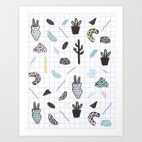 PASTEL GARDENS Art Print