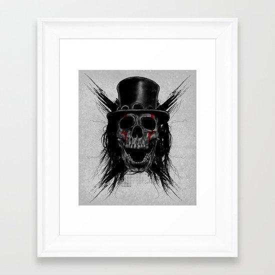 Skull Hat Framed Art Print