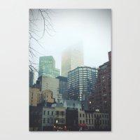 Gorilas En La Niebla Canvas Print