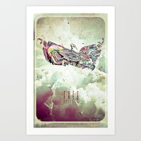 Free Yourself Eagle Art Print