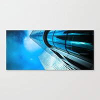 Blue Towers Canvas Print