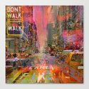 traffic jam pink Canvas Print