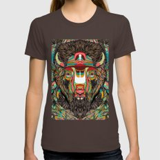 Bison (Feat. Bryan Gallardo) Womens Fitted Tee Brown SMALL