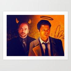 Good & Bad - Supernatural - Castiel Crowley Art Print