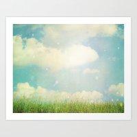 Field of Clouds Art Print