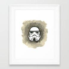 Storm Trooper Watercolor Framed Art Print