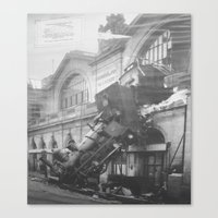 The Gare Montparnasse Tr… Canvas Print