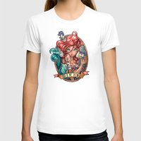 face T-shirts featuring SIREN by Tim Shumate
