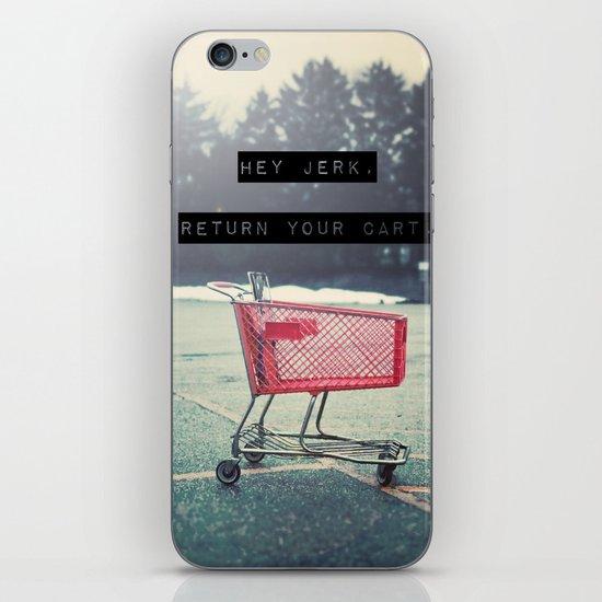 Grocery Cart Rage  iPhone & iPod Skin