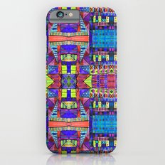 Tribal Patchwork II Blue iPhone 6s Slim Case