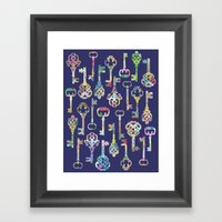 Rainbow Keys Framed Art Print