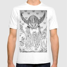 Viking Mens Fitted Tee SMALL White