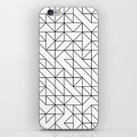 BW TRIANGLE PATTERN iPhone & iPod Skin