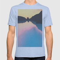 Indonesian crater lakes Mens Fitted Tee Athletic Blue SMALL