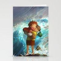 Girl In The Sea Stationery Cards